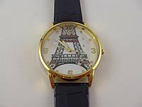"""Часы женские наручные """"Эйфелева башня""""  золото с черным"""
