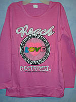 Кофта удлиненная розовая для девочки с карманами Reach