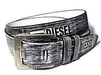 Мужской кожаный ремень DIESEL (серый)