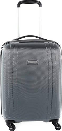 Престижный чемодан пластиковый малый 34 л. на 4-х колесах Puccini PC 015, 8800/5 антрацит