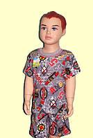 Одежда детская.Комплект Футболка+шорты, 100% ХБ, рост 80-116
