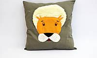 Интересная подушка-игрушка Лев 50х50 см
