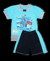 Комплект шорты и футболка с принтом для мальчика
