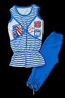 Летний комплект туника с бриджами для девочки