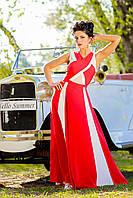 Вечернее красное платье в пол Жасмин А1 Медини 46-48 размер