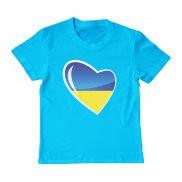 Футболка детская с принтом Украина в сердце
