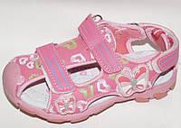 Босоножки с супинатором и защитой носочка для девочки р-р 26-31.