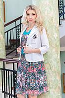 Женский качественный летний пиджак 960 белого цвета