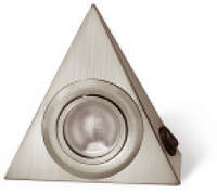 Светильник мебельный  треугольный с выключателем сатин OM-OPT20S-52