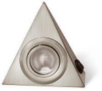 Мебельное освещение светильник треугольный с выключателем алюминий OM-OPT20S-53