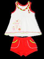 Летний костюм с принтом на девочку (шорты и майка)