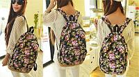 Городские рюкзаки с цветочным принтом. Рюкзак с цветами