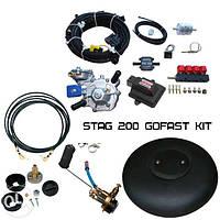 ГБО 4 поколения STAG 200 GoFast с баллоном
