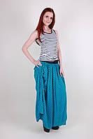 Молодежная летняя юбка в горох модного кроя
