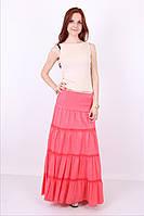 Легкая молодежная юбка модного кроя в пол в ярких расцветках