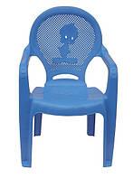 Пластиковое кресло детское Утенок голубой