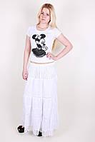 Нарядная длинная юбка на лето модного кроя