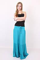 Модная однотонная юбка больших размеров из натуральной ткани