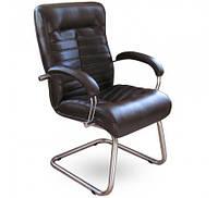 Кресло офисное Орион CF хром Кожа Сплит черная