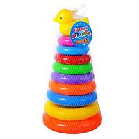 Детская игрушка Пирамидка-конус с уточкой 720 , 30 см