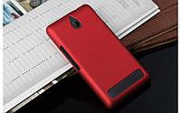 Чехол накладка бампер для Sony Xperia E1 D2005 / D2105 Dual бордовый