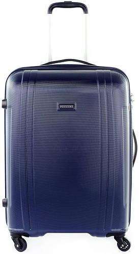 Надежный средний чемодан из поликарбоната 70 л. Puccini PC 015, 8802/4 синий