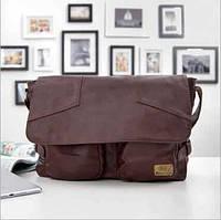 Стиьная мужская сумка. Недорогой портфель. Бизнес сумка. Сумка на подарок. Код: КСД46.