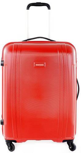 Четырехколесный надежный пластиковый чемодан-гигант 115 л. Puccini PC 015, 8804/3 красный