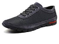 Спортивные туфли GS-comfort, текстиль/ замша, серые, фото 1