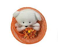 """Букет из игрушек """"Конфетка"""" оранжевый"""
