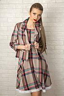 Женский повседневный костюм в клетку с кружевом 2021 Платье и пиджак