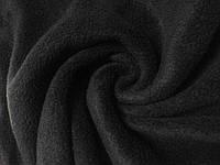 Ткань флис, цвет чёрный, теплая ткань для одежды