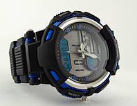 Яркие часы G-Shock seel ring, стальной безель, водонепроницаемые, синий