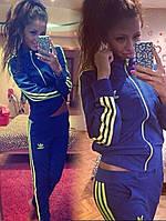 Женский спортивный костюм Adidas синий
