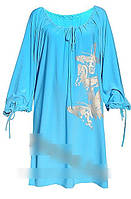 Платье БАБОЧКИ с длинным рукавом.Большие размеры.