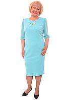 Шикарное женское платье с шифоновым рукавом больших размеров