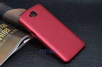 Чехол накладка бампер для LG G Pro Lite Dual D686 бордовый
