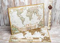 Скретч карта My Antique Map с увеличенными картами Европы и Украины