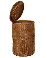 Корзина для белья (круглая) из лозы