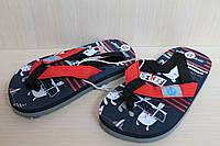 Детские вьетнамки на мальчика, пляжная обувь тм Super Gear р. 22,24