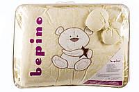 """Детский постельный комплект Bepino 8 предметов """"Мишка со звездочкой"""", аппликация. Жаккард с вышивкой"""