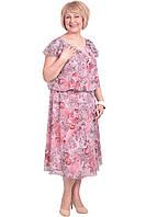 Красивое летнее платье с цветочным принтом больших размеров