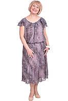Яркое женское платье на лето из принтованного шифона