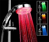 Подсветка для душа цветная вода лейка насадка смеситель