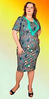 Летнее женское платье за колено