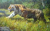 2015 общество с ограниченной новый Diy 3d алмаз живопись тигр ожесточенные король лес ручн