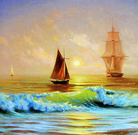 Наборы для вышивки сделай сам алмаз живопись ремесел нового 3d вернуться парусная лодка мо