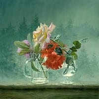 Diy алмаз живопись картина маслом по номеру цветок в воде картина маслом мозаика вышивка а