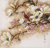Китайский стиль сделай сам алмаз живопись стразы вышивки крестом комплект цветок и птица в