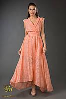 В879 Вечернее платье в пол ассиметрия